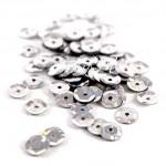 Пайетки,серебро голограмма, 6 мм., 4-5 гр. UC002380