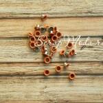 Люверсы металлические, 4 мм., цвет терракотовый, цена за 30 шт., UC002397