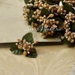 Тычинки с листиками, Gold-Ассорти на зеленой ножке, UC002398