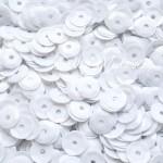 Пайетки белые, 6 мм., 4-5 гр.., UC002458