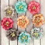 Цветы бумажные с тычинками, Fairy Rhymes Collection, 9 шт.,  Prima Marketing, UC002466