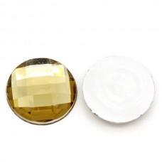 Стразы, граненая круглая, Золото, 20 мм., цена за 3 шт., UC002474