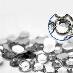 Страза Граненая круглая, прозрачная, 8 мм., цена за 50 шт., UC002478