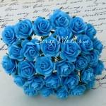 Роза бирюзовая,  25 мм, цена за 1 шт., UC002498