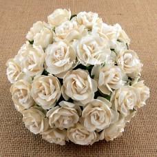 Роза кудрявая сливочная,  30 мм, цена за 1 шт., UC002503