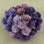 Роза, MIX фиолетовый,  20 мм, цена за 5 шт., UC002528