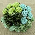 Роза, MIX зеленый, 20 мм, цена за 5 шт., UC002529
