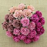 Роза, MIX розовый,  15 мм, цена за 5 шт., UC002532