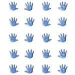 Брадс Baby Ладошки, голубые, 20 шт., 1 см., Artemio, UC002547