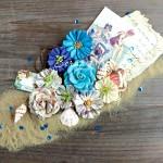 Цветы бумажные French Riviera, 8 шт. 40-55 мм, Prima Marketing, UC002550