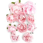 Цветы Paper Blooms, Fairy Floss, 10 шт., от 30 до 42 мм, Kaiser Craft, UC002555