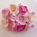 Цветы Вишни MIX-розовый с тычинками, 25 мм., 5 шт., UC002560
