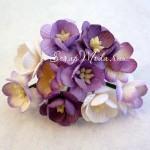 Цветы Вишни MIX-сиреневый с тычинками, 25 мм., 5 шт., UC002561