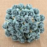 Розочки серо-голубые на проволоке, 20 мм., цена за 5  шт., UC002571