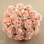 Роза кудрявая персиковая,  30 мм, цена за 1 шт., UC002572