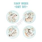 "Набор фишек ""Baby Boy"", 4 шт., Mona Design, UC002577"