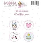 "Набор фишек ""DollHouse"", 4 шт., Mona Design, DA000055"