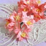 Лилия  коралловая с тычинками на проволоке, 50 мм, цена за 1 шт., UC002598