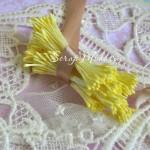 Тычинки матовые, лимонные,  25 шт.,  длина тычинки 60 мм., UC002607