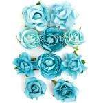 Цветы Paper Blooms, Sea Breeze, 10 шт., от 30 до 42 мм, Kaiser Craft, UC002612