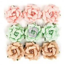 Цветы бумажные Wild Free, 9 шт. 3,5 см., Prima Marketing, UC002622
