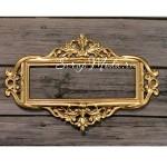 Металлическая рамка для записей 3, цвет золото (покрытие), Арт-Просвет, UC002629