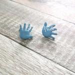 Брадс Baby Ладошки, голубые, цена за 1 пару, 1 см., Artemio, UC002645