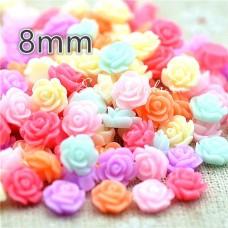 Пластиковые цветочки Mix, 8 мм., цена за 10 шт., UC002649