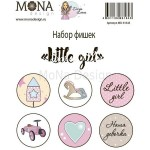 Набор фишек Little girl, 6 шт, Mona Design, UC002650