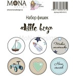 Набор фишек Little boy, 6 шт, Mona Design, UC002651