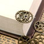 Шестерёнки, античная бронза, 15 мм., цена за 1 шт.,  UC002652