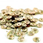 Пайетки, цвет холодное золото, голограмма, 6 мм., 4-5 гр. UC002663