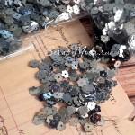 Пайетки, Цветочек, серебро, 6 мм., 4-5 гр. UC002665