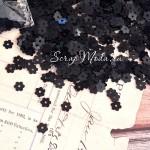 Пайетки mini, Цветочек, черные, 4 мм., 4-5 гр. UC002666