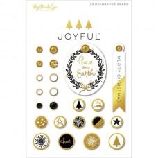 Брадс Joyful, в наборе 24 брадс с декором. My Mind's Eye, UC002668