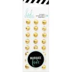 Набор декоративных Gold камушков Marquee Love - Metal Studs, 24 шт., Heidi Swapp, UC002669
