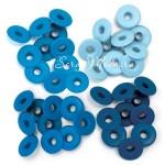 Люверсы широкие Wide Blue в наборе 40 люверсов,We R Memory Keepers, UC002671