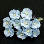 Цветы вишни, Baby blue, 15 мм, цена за 5 шт., UC002680