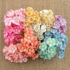 Цветы Mini вишни, shaby, 10 мм, цена за 10 шт., UC002681