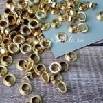 Люверсы Gold, 30 шт., размер 9, отверстие 5 мм., UC002684