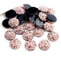 Стразы Холодное золото, эффект минерального камня, 12 мм, цена за 1 шт.,  UC002685