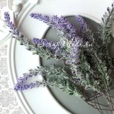 Веточка Лаванда на проволоке, 16 см, растение  1,8х10 см., цена за 1 шт.,  UC002691