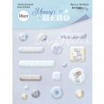 Набор эпоксидных наклеек Mommy's Hero, 16 шт., размер упаковки 9х12 см., Scrapmir, UC002703