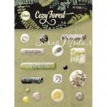 Набор эпоксидных наклеек Cozy Forest, 16 шт., размер упаковки 9х12 см., Scrapmir, UC002705