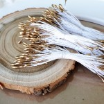 Тычинки золотые,  25 шт.,  длина тычинки 1,5 мм., длина 80 мм., UC002780