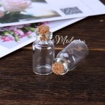 Стеклянная  бутылочка с пробкой, 11х22 см, 1 мл., цена за 1 шт., UC002786