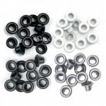Люверсы Standart Grey-чёрные, белые и серые, металл, 60 шт.,  We R Memory Keepers, UC002789