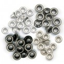 Люверсы Standart Grey, металл, 60 шт.,  We R Memory Keepers, UC002789