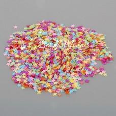 Пайетки Звездочки mini, плоские, ассорти яркие, 3 мм., 4-5 гр. UC002804