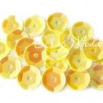 Пайетки Желтые, 4,5 гр., 6 мм., в пластиковом боксе, UC002815